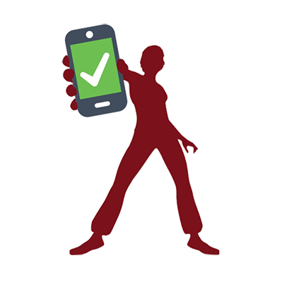 female figure holding a cell phone
