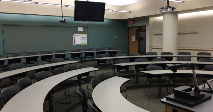 Picture of distance learning classroom