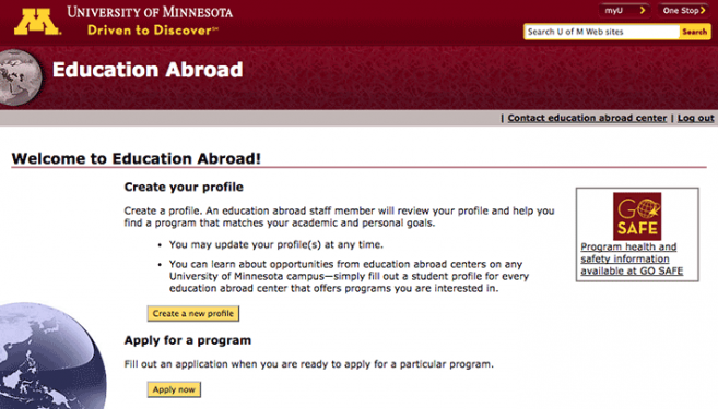 Education Abroad home page
