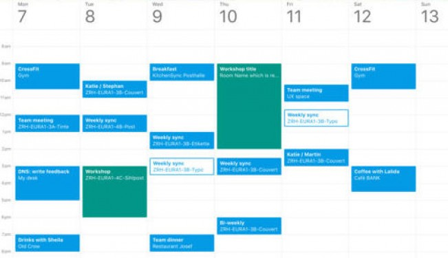 Google Calendar interface