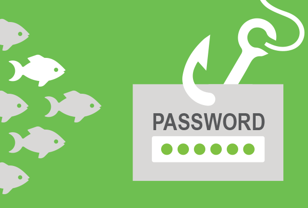 fish swimming toward a hook with a password field dangling from it
