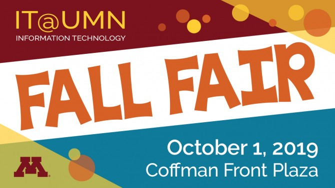 Fall Fair is on October 1