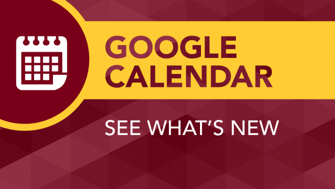 Google Calendar: See what's new