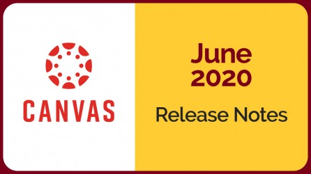 Canvas Logo, a circle of dots and spokes, next to June 2020 release notes