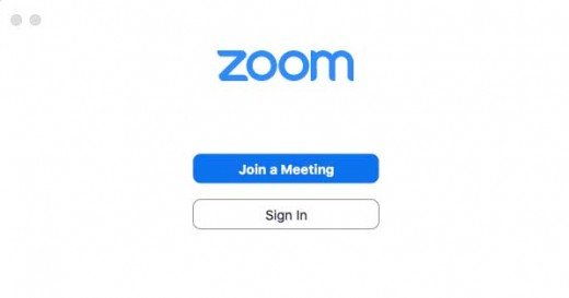 Zoom join a meeting interface